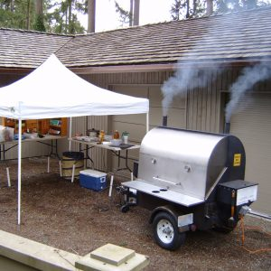 Onsite bbq catering makes the Northwest event special.