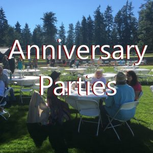 Anniversary parties with bbq catering